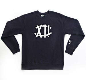 Image of The XII Crewneck in Navy