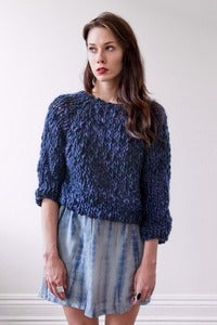 Image of kingston thick & thin merino sweater (shown in midnight)