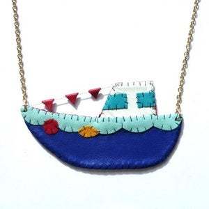 Image of Tug Boat Necklace