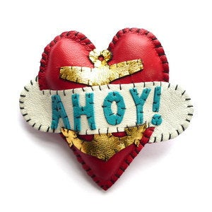 Image of Ahoy! Heart Brooch