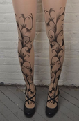 Image of Floral Peacock Tights