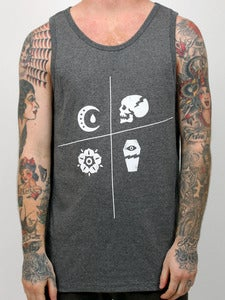 Image of SLANTED (Charcoal Heather Tank Top)