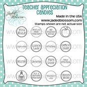 Image of Teacher Appreciation Candies (4x4) ~ Peachy