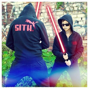 "Image of 2013 CLEARANCE SPECIAL ""Brand Wars: Sith"" - Black hoody"