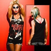 "Image of CUSTOM ""Destroyed"" GIRLS X-Marks the Spot TANK TOP"