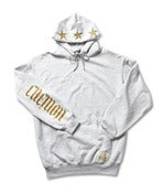 Image of GOLD ON GREY CHEMON PULL OVER HOODY