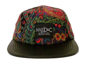 Image of  5 Panel Hat + The Paisley Black MBDCR|Divide & Conquer