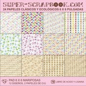 Image of Super-Scrapbook Paper Pad~Mariposas