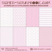 Image of Super-Scrapbook Paper Pad~Ballet