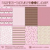 Image of Super-Scrapbook Paper Pad~Love Cupcakes