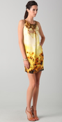 Image of Robert Rodriguez Citron Printed Silk Shift Dress Sizes Avail (2, 4) NEW