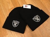 Image of Retro Los Angeles Raiders Black Cuffed Beanie