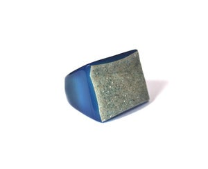 Image of Indigo Raw Druzy Ring (v1)