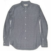 Image of Ink Chambray Dobby Steven Shirt