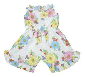 Image of Floral pop playsuit size girls 10 to 12