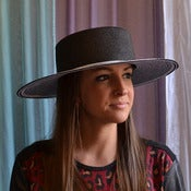 Image of Wide brim braid hat ($310)