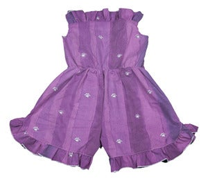 Image of Purple playsuit size 10 to 12