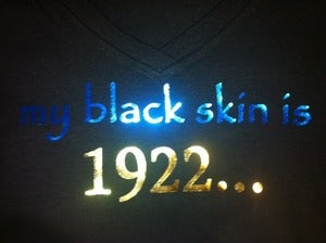"Image of ""my black skin is 1922..."""