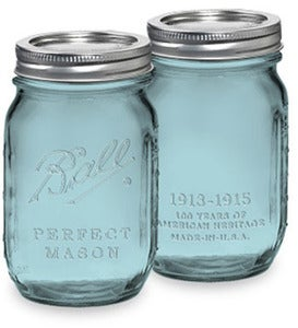Image of Ball Heritage Collection Blue Pint (16oz.) Mason Jar