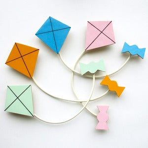 Image of Kite Brooch - 4 Colours to Choose From - Spring Set
