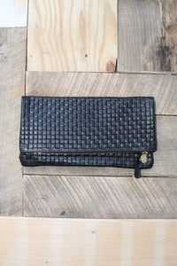 Image of Clare Vivier  Foldover Clutch Black Basket