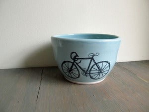 Image of Medium Robin's Egg Blue Bicycle Bowl