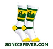 Image of GREEN and GOLD RALLY SOCKS
