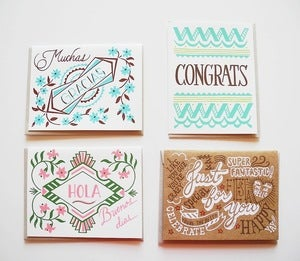 Image of Silk Screened Cards by Beau Ideal