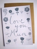 Image of LOVE YOU MUM card in slate