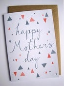 Image of HAPPY MOTHER'S DAY card in slate and coral