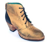 Image of No.0045 CROSSWALK kiltie ankle boot Honey