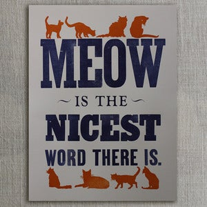 Image of Meow Is the Nicest Word (blue)