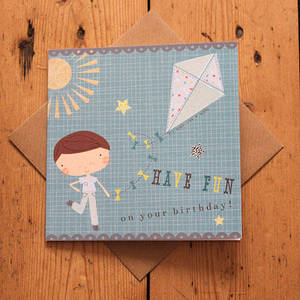 Image of Carnival Kids - Boy's Kite Birthday Card