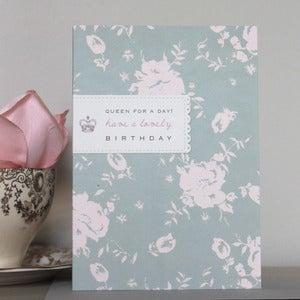 Image of Bijou Blossom - Queen for a Day Birthday Card