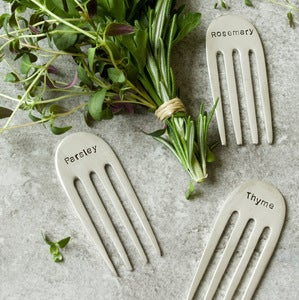 Image of  Set of 4 Fork Herb Markers