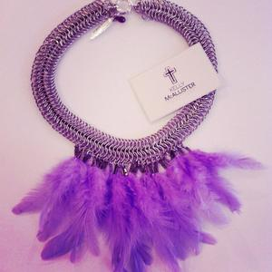 Image of Lilac Chain Mail Necklace