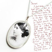 Image of Large Virginia Woolf Charm Necklace