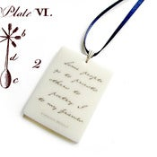Image of Virginia Woolf Quote Pendant