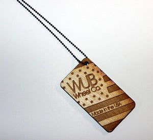 Image of Wub-Gang Dog Tag Necklace Light Stain