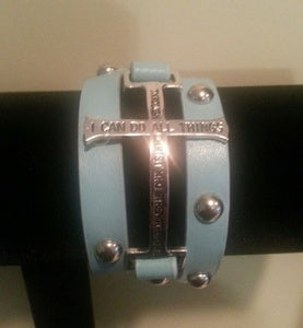 Image of &quot;I Can Do All Things&quot; Leather Wrap Bracelet