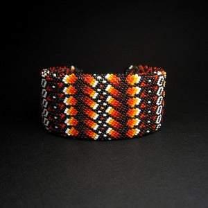 Image of Fire Colored Beaded Bracelet