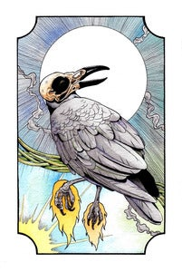 "Image of ""untitled crow"" print"