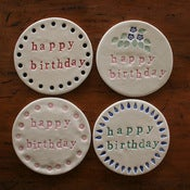 Image of happy birthday plaques standard