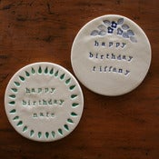 Image of happy birthday plaques personalised
