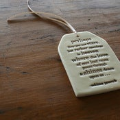 Image of ceramic quote tag - sympathy