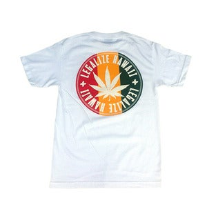 Image of IN4MATION - LEGALIZE HAWAII TEE (WHT)