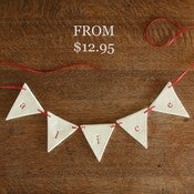 Image of letter name garland BUNTING