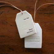 Image of ceramic quote tag - one day three autums