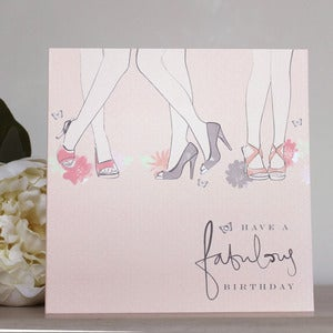 Image of 'Fabulous' Legs Hand Embellished Card