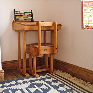Image of Vintage Child's School Desk & Chair